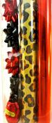 Gift Wrap Kit,Animal Prints,13 Bows,2 Ribbon Eggs,6.5sqm