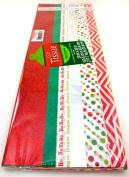 Christmas Gift Tissue Wrap,100 Sheets,metallic,print,solid,white,50cm x 50cm