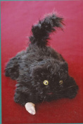 Here Kitty, Kitty Fibre Trends Knitting & Felting Pattern FT219 Felt Cat Pattern