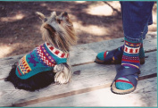 Walking the Dog Fibre Trends Knitting Pattern AC-46 Instructions to Knit Dog Sweater & Socks