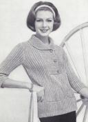Vintage Knitting PATTERN to make - Placket Yoke Pullover Sweater PlacketPullover. NOT a finished item. This is a pattern and/or instructions to make the item only.