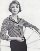 Vintage Knitting PATTERN to make - Stripe Shorty Suit Jacket Cardigan StripeJacket. NOT a finished item. This is a pattern and/or instructions to make the item only.