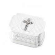DEMDACO Keepsake Box with Rosary Beads, Bless This Child