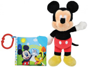Disney Mickey Mouse Soft Teething Book & Plush Toy Set