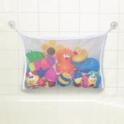 Baby Bath Tub Toy Bag Hanging Organiser Storage Bag White