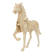 3D Jigsaw Puzzle Wooden Development Animal Horse Kids Toy