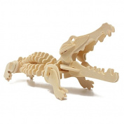 3D Jigsaw Puzzle Wooden Wisdom Animal Crocodile Educational Toy