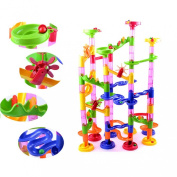 Willtoo(tm) Fashion 105pcs Diy Construction Marble Race Run Maze Balls Track Building Blocks