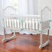Carousel Designs Aqua Haute Baby Cradle Bumper