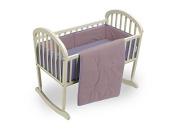Baby Doll Reversible Cradle Bedding, Pink/Lavender