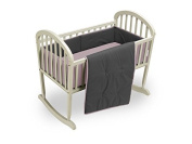 Baby Doll Reversible Cradle Bedding, Grey/Pink