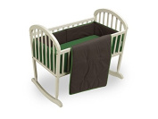 Baby Doll Reversible Cradle Bedding, Brown/Green