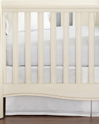 Little By Hudson Park Italian Percale Crib Skirt Pearl White