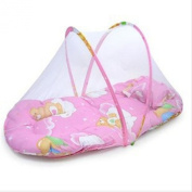 Toddler Kids Infant Baby Sleeping Safety Mosquito Net Netting Crib Bed Playpen Play Tent with Baby Cushion Back Pillow