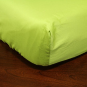 Solid Citron 100% Cotton in Satin Finish, Fits up to 23cm Mattress