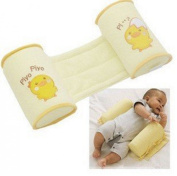 Baby Cartoon Cotton Safe Anti Roll Baby Positioner Pillow Adjustable Yellow