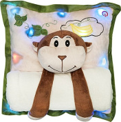 Melody Mates Musical Night Light Pillow and Blanket Monkey