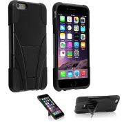 iPhone 5s Case, VAKOO® [Slim Fit] iPhone 5s Case / iPhone 5 Case Armour Kickstand Cover Dual Layer Defender Rugged Hybrid Shield Protection Shockproof Drop proof Impact Case Cover for iPhone 5s Case BLACK