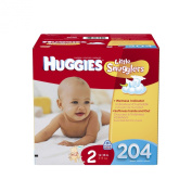 Huggies Little Snugglers Nappies Economy Plus, Size 2, 204 Count