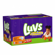 Luvs With Ultra Leakguards Big Pack Size 3 Nappies 108 Count