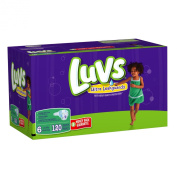 Luvs With Ultra Leakguards Size 6 Nappies 120 Count
