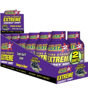 Stacker2 Extra Strength Energy Shot Grape 60ml 12 Pak