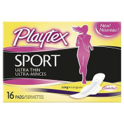 Playtex Sport Ultra Thin Long Pads 16pads 2pk