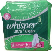2 X Whisper Ultra Clean XL Wings Sanitary Pad