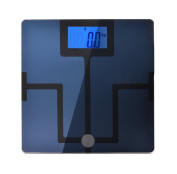 AGPtek Digital 11cm Backlit LCD Display Bluetooth Body Fat Scale w/ Free Apps for iOS, Android Phone & Tablet- Body Composition Analyzer, Smart Body Analyzer