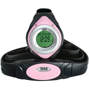 Heart Rate Monitor Watch with Min, Avg, Max Heart Rate in Pink