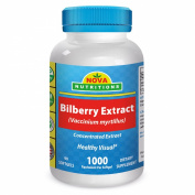 Bilberry Extract 1000 mg equivalent 90 Softgels by Nova Nutritions