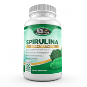 Top Rated Spirulina - 2000mg Maximum Strength Supplement - 30 Day Supply - 120 Veggie Capsules by BRI Nutrition