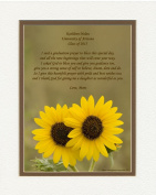"""Personalised Daughter Graduation Gift with """"Daughter Graduation Prayer Poem"""" Sunflowers Photo, 8x10 Double Matted. Special Keepsake Graduation Gifts for Daughter 2015"""