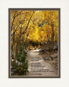 """Personalised Gift for Graduation with """"Life is travelling the path between who you think you are and who you can be. The key is having the courage to allow yourself to make the journey."""". Aspen Path Photo, 8x10 Double Matted. A Special Graduation Gift  .."""