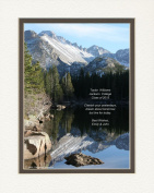 """Personalised Gift for Graduation with """"Cherish Your Yesterdays, Dream About Tomorrow But Live For Today."""" Quote. Snow Mt Lake Photo, 8x10 Double Matted. A Special Graduation Gift for Graduate 2015 or Any Occasion."""