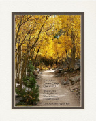 """Personalised Gift for Graduation with """"What we are is God's gift to us. What we become is our gift to God."""" Quote. Aspen Path Photo, 8x10 Double Matted. A Special Graduation Gift for Graduate 2015"""