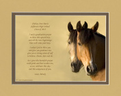 """Personalised Graduation Gift with """"Graduation Prayer Poem"""" Horses Photo, 8x10 Double Matted. A Special Keepsake Gift for Graduate 2015"""