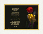 """Personalised Graduation Gift with """"Graduation Prayer Poem"""" Tulips Photo, 8x10 Double Matted. A Special Keepsake Gift for Graduate 2015"""