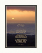 """Personalised Graduation Gift with """"Graduation Prayer Poem"""" Ocean Sunset Photo, 8x10 Double Matted. A Special Keepsake Gift for Graduate 2015"""