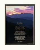 """Personalised Graduation Gift with """"Graduation Prayer Poem"""" Mt Sunset Photo, 8x10 Double Matted. A Special Keepsake Gift for Graduate 2015"""