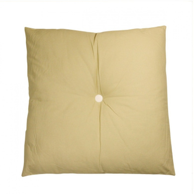 80cm Urban Life Over-Sized Solid Beige and White Tufted Decorative Floor Throw Pillow