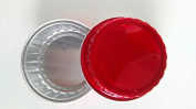 KEISEN 8.6cm mini Disposable Aluminium Foil Cups 80ml for Muffin Cupcake Baking Bake Utility Ramekin Cup Red 100/PK