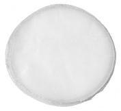 50 Organza Circles Sheer with Silver Edge 23cm Favour Wedding Shower Wrap