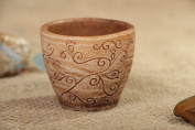 Ceramic Shot Glass with Pattern