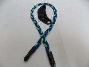 Neon Green & Carolina Blue Paracord Bow Wrist Sling By Bostonred2010