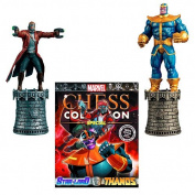 Marvel Star-Lord and Thanos Special Chess Piece with Collector Magazine