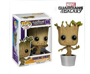 Stock anime funko pop Guardians of the Galaxy DANCING GROOT 9.5cm vinyl figure toys child gift brinquedos