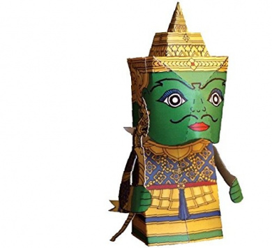 Paper Ramayana Toy Model Postcard and 3 D Cut-out Statue - Pra-ram(king)