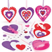 Heart Decoration Sewing Kits for Children to Decorate for Mothers Day or Valentines