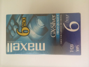 Maxell 6 Pack High Quality GX-Silver T-120 VHS 6 Hour In EP Mode Video cassette